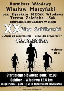 Plakat XX Bieg Sobiborski